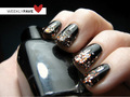 Glitter polish faded to black - nails-nail-art photo