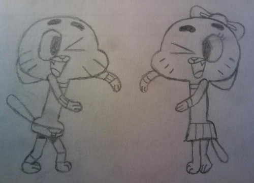 Gumball and Audrey Watterson