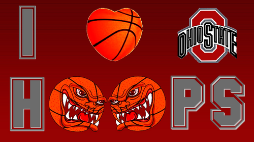 I cuore OHIO STATE HOOPS