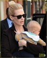 January Jones & Xander Head Home from NYC