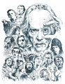 John Carpenter Drawing - in-the-mouth-of-madness fan art