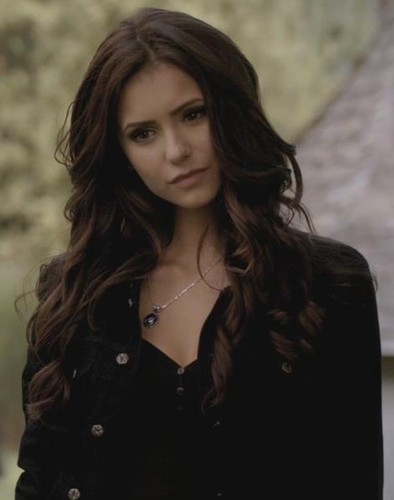 Katherine Pierce and Elena Gilbert wallpaper probably with an overgarment, a well dressed person, and a box casaco titled Katherine Pierce <3