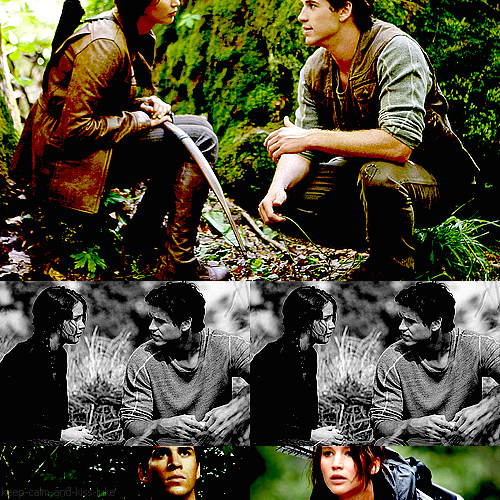 hunger games relationship between gale and katniss fanart