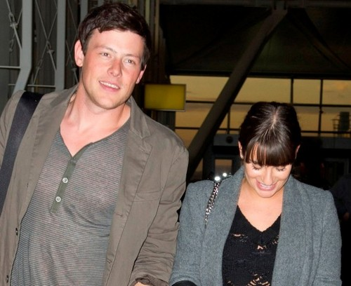 Glee wallpaper called Lea Michele and Cory Monteith leaving NYC