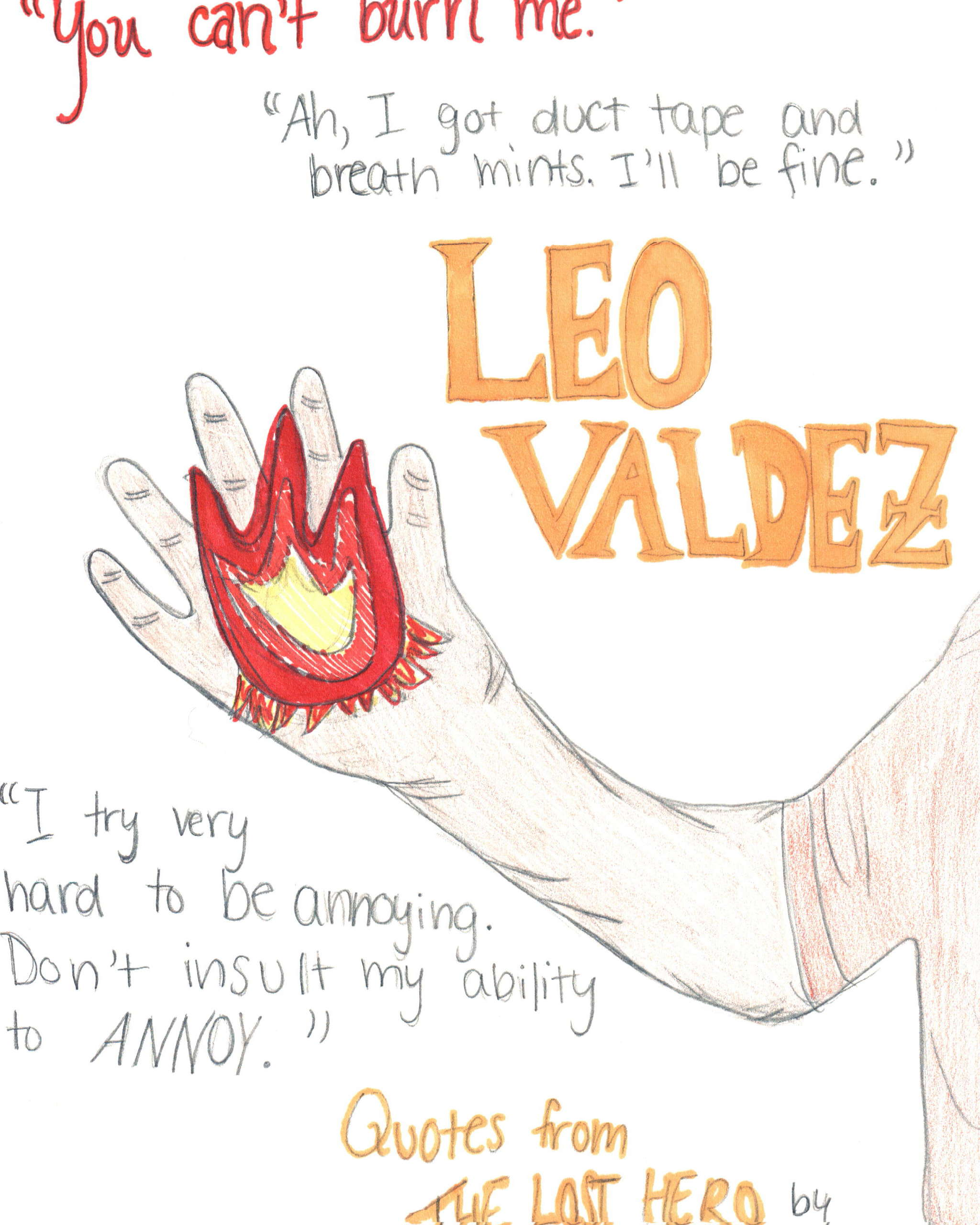 Leo Valdez Frases Os Heróis Do Olimpo Fã Art 30060263
