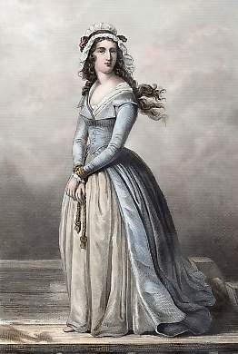 Marie-Anne シャルロット, シャーロット de Corday d'Armont (27 July 1768 – 17 July 1793