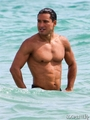 Mario Lopez Jogs Shirtless On The Beach In Miami