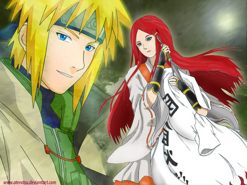 Kushina Uzumaki wallpaper possibly containing anime called MinaKushi forever
