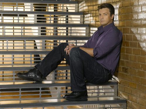 Nathan as Richard Castle <3