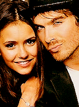Ian Somerhalder and Nina Dobrev wolpeyper containing a portrait called Nina&Ian