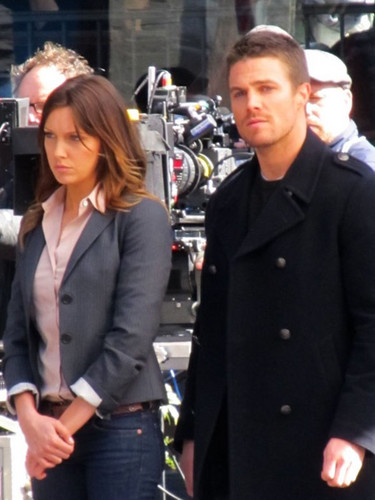 "On the set of ""Arrow"""