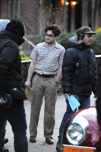 On the set of «Kill Your Darlings» - March 26, 2012 - HQ