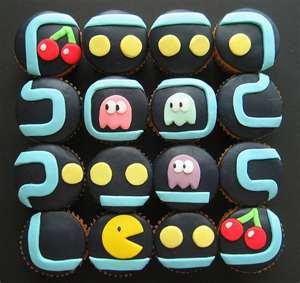 Pacman 纸杯蛋糕