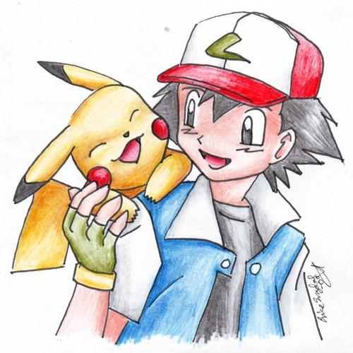 Пикачу and Ash x3
