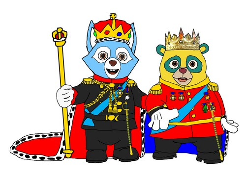 Prince Oso and King Wolfie