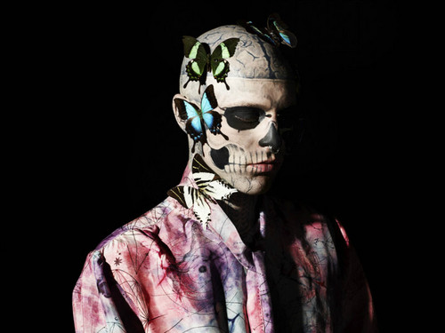 Rick Genest GQ Italia photoshoot