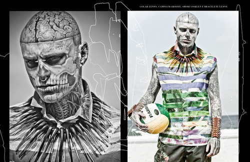 Rick Genest によって Zee Nunes for FFW Magazine