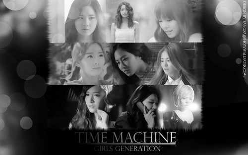 少女时代 壁纸 possibly with a sign entitled SNSD 壁纸 Time Machine