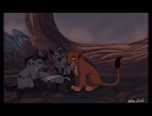 Scar and hyenas