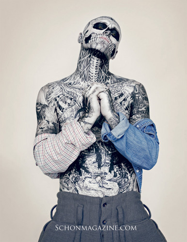 Schon Magazine photoshoot - rick-genest Photo