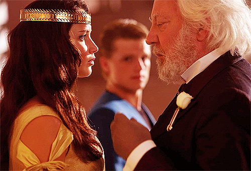 Snow and katniss