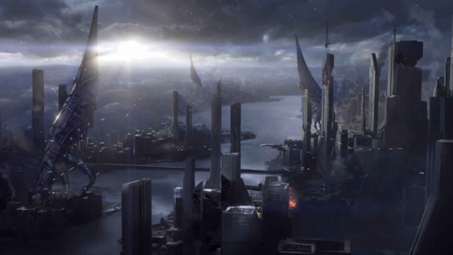 Sovereign Class Reapers Attacking Earth Mass Effect 3 Photo Picture