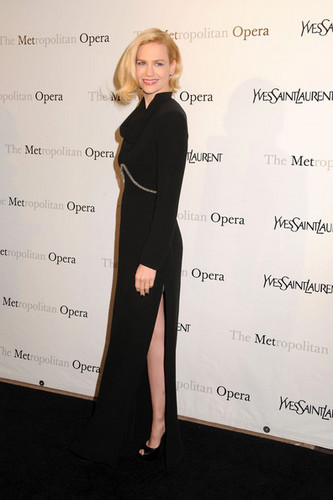 "January Jones wallpaper possibly containing a well dressed person and a sign titled The Metropolitan Opera premiere of Jules Massenet's ""Manon"" in NYC (March 26)"