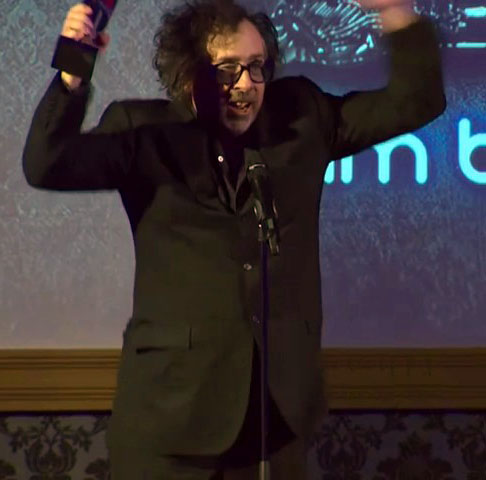 Tim burton Honoured At Empire Awards 2012