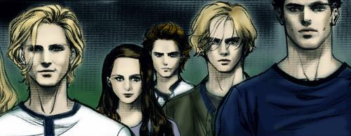 la saga Twilight fond d'écran possibly with animé and a portrait titled Twilight Graphic Novel