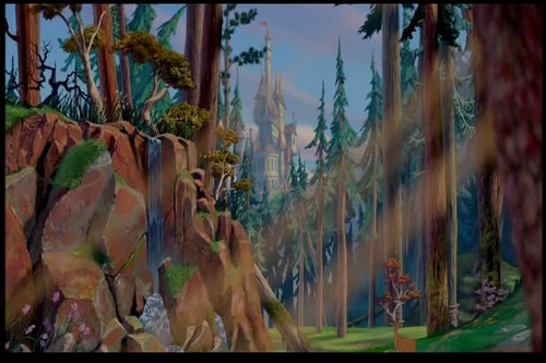 Disney-Prinzessin Hintergrund with a banane and common bamboo entitled What a beautiful scene is that