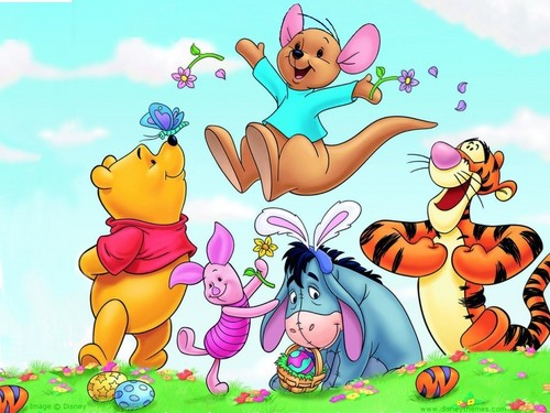 Happy Easter All My peminat-peminat kertas dinding containing Anime called Winnie The Pooh Easter