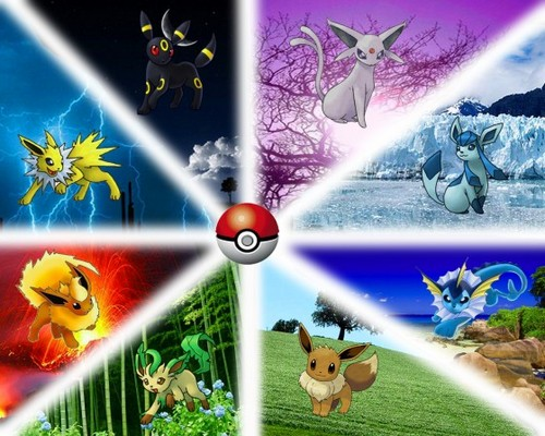 all eevee's evolutions