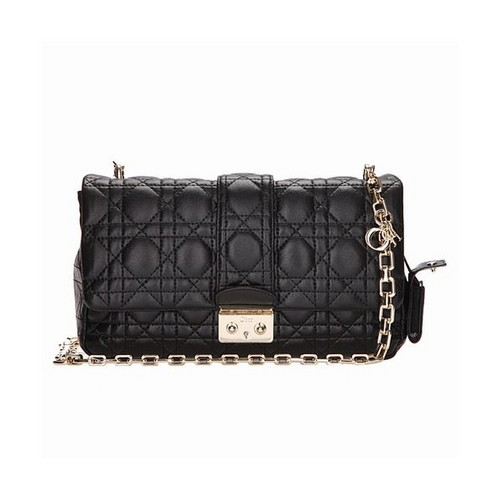 dior leather bag Nappa lambskin black 6339
