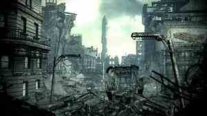 Fallout 3 fond d'écran probably with a business district and a rue entitled fallout 3