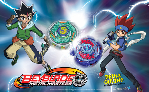 Beyblade Metal Fusion wallpaper containing anime called ginga vs masamune