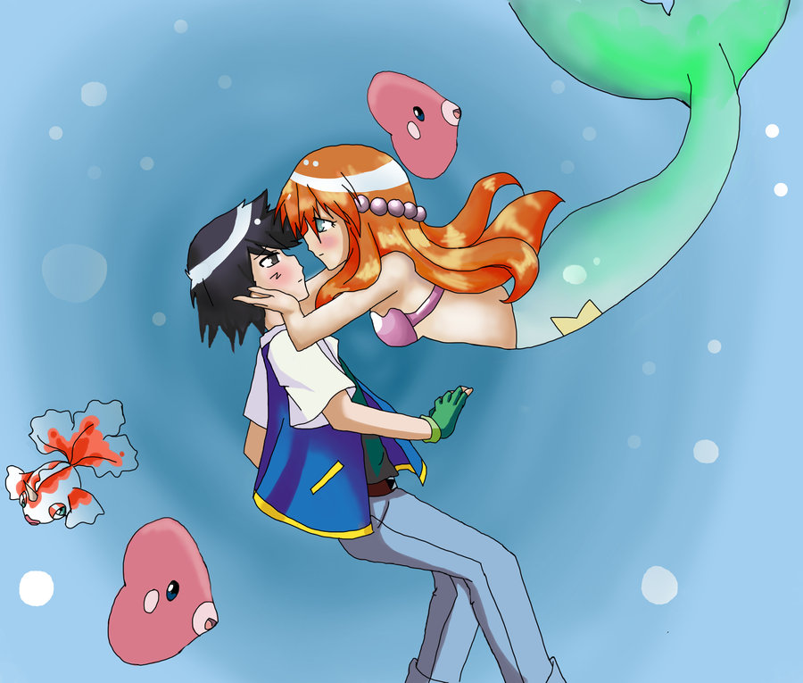 ash and misty kiss the girl № 334773