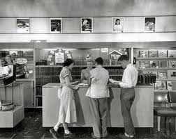 1950s record store