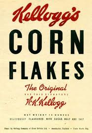 50s مکئی Flakes box