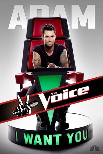 Adam Levine, The voice <3