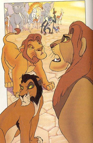 Ahadi, Mufasa and Taka/Scar