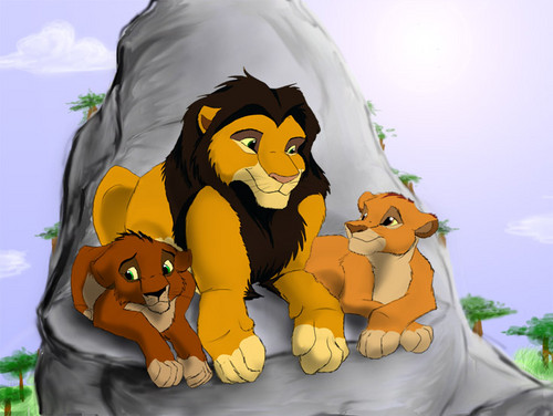 Ahadi, Mufasa and Taka/Scar