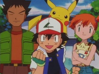 pokemon wallpaper with anime entitled Ash, Misty & Brock!