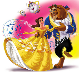 Disney Princess karatasi la kupamba ukuta called Beauty and the Beast