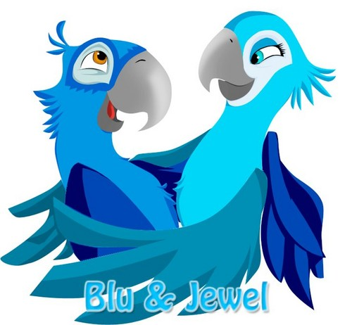 Blu and Jewel Hug
