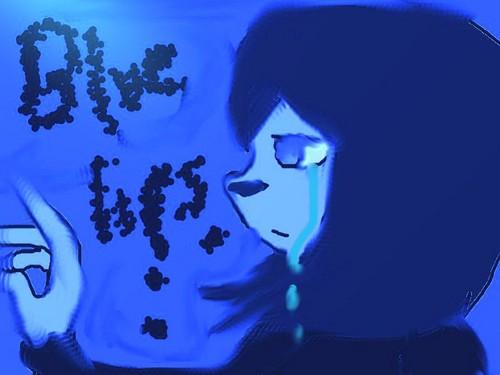 Blue lips.......
