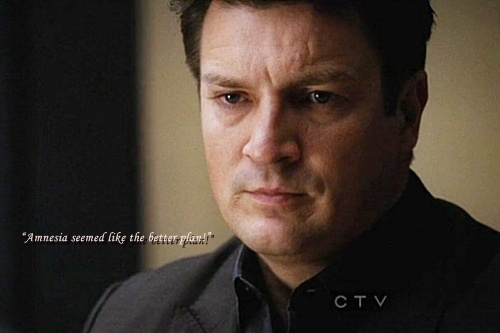 Caskett wallpaper probably containing a business suit and a portrait entitled Castle 4x19 (47 Seconds) Best Quotes <3
