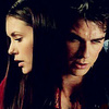 Damon & Elena photo with a portrait titled DE<3