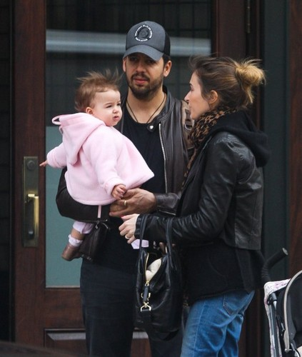 David Blaine with his Wife and Daughter