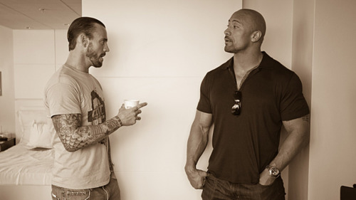 "Dwayne ""The Rock"" Johnson and CM Punk"
