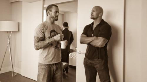 "Dwayne ""The Rock"" Johnson and CM Punk"